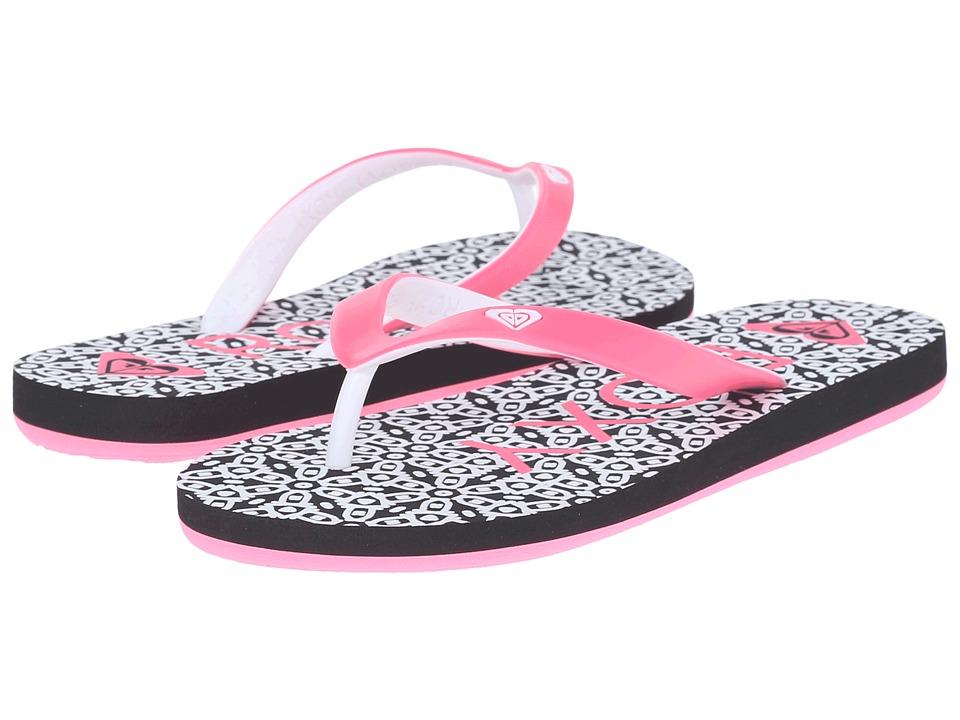 Roxy Kids - Tahiti V (Little Kid/Big Kid) (Black/Flourescent Pink) Girls Shoes
