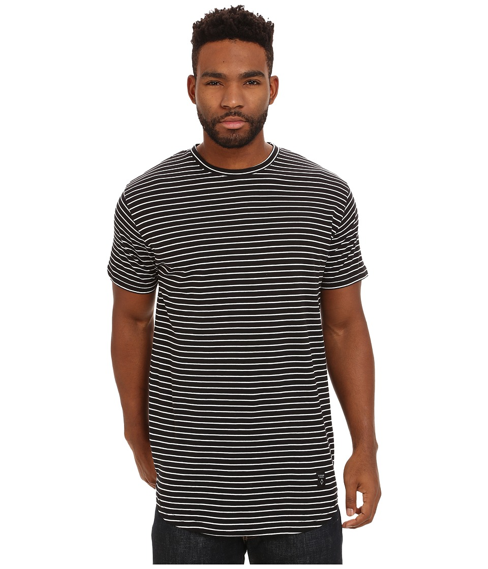 Akomplice White Striped Moan SC Tee Black Mens T Shirt