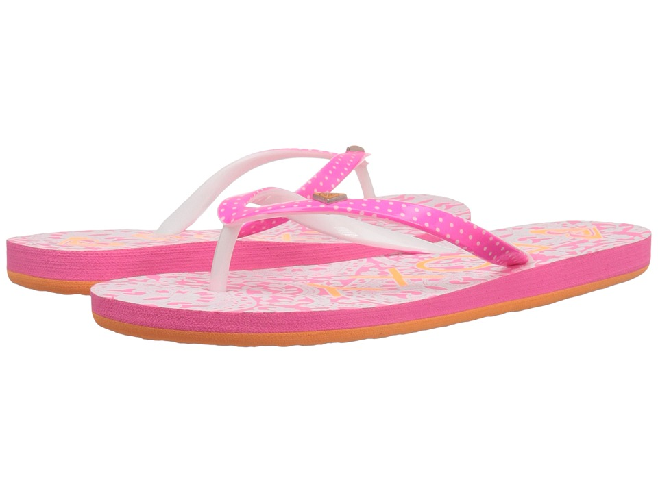 Roxy Kids Pebbles V Little Kid/Big Kid Orange/White Girls Shoes