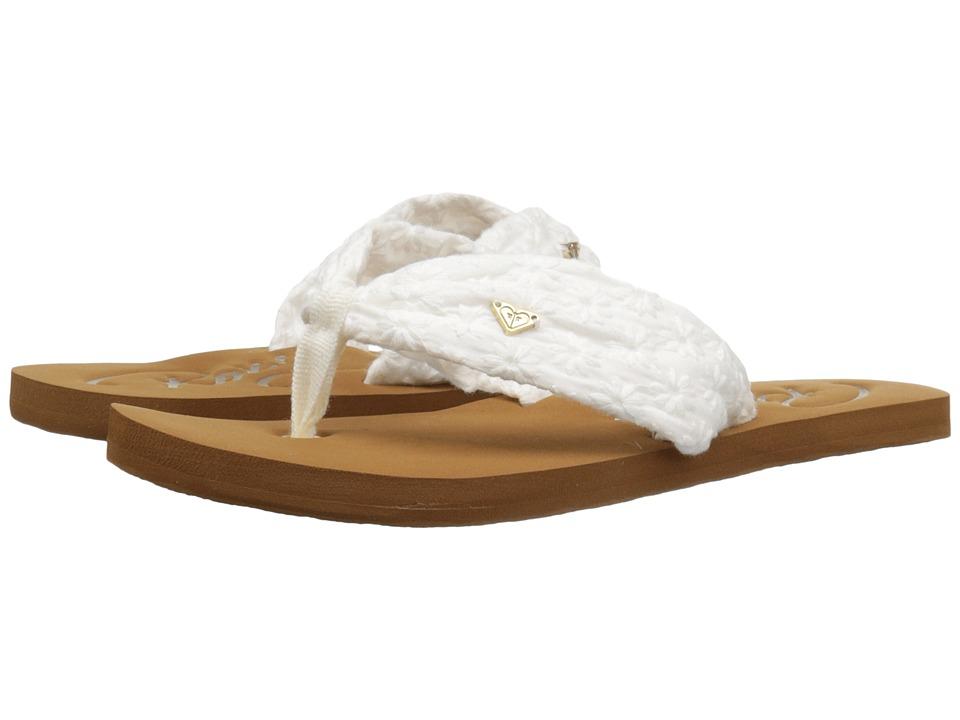 Roxy Kids Caribe (Little Kid/Big Kid) (White) Girls Shoes