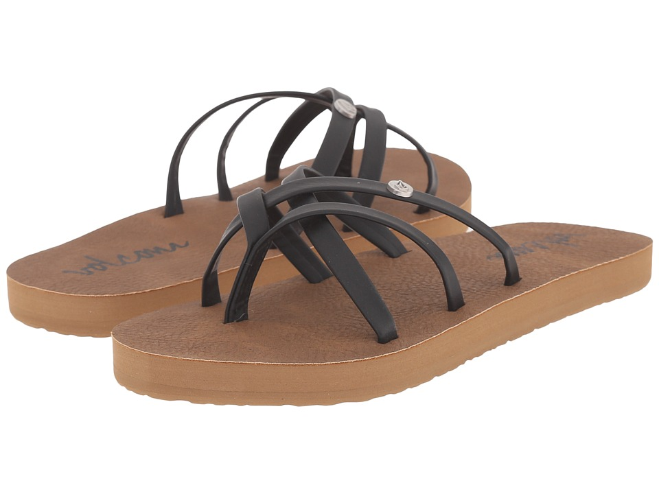 Volcom Kids - New School Sandal (Little Kid/Big Kid) (Black) Girls Shoes