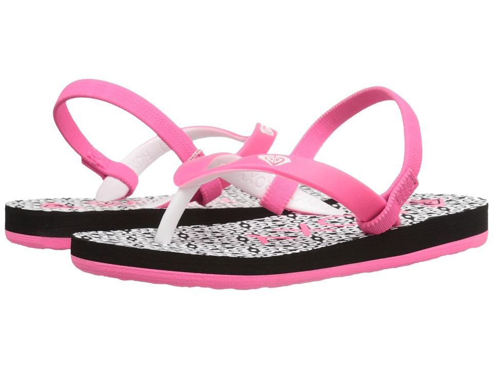 Roxy Kids Tahiti V Toddler Black/Flourescent Pink Girls Shoes