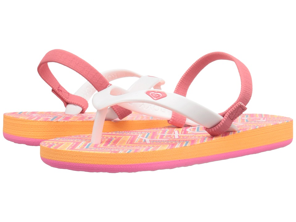 Roxy Kids Tahiti V Toddler Orange/Yellow Sun Girls Shoes