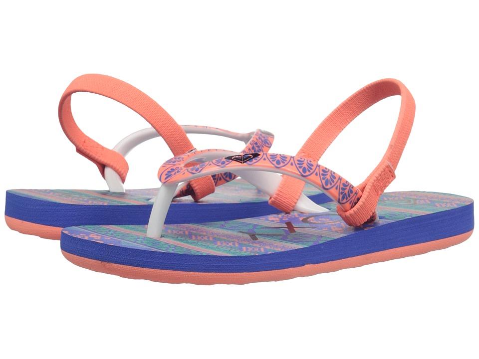Roxy Kids Pebbles V Toddler Teal/Black Girls Shoes