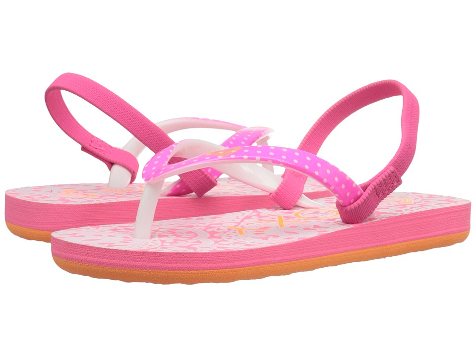 Roxy Kids Pebbles V Toddler Orange/White Girls Shoes