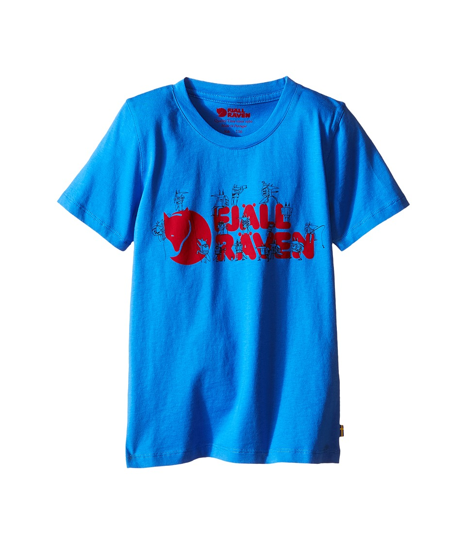 Fjallraven Kids - Kids Trek Logo T-Shirt (Uncle Blue) Kids Short Sleeve Pullover