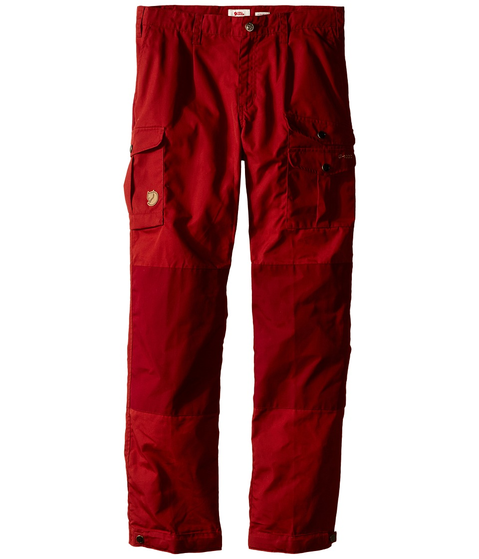 Fjallraven Kids - Kids Vidda Trousers (Deep Red/Ox Red) Kids Casual Pants