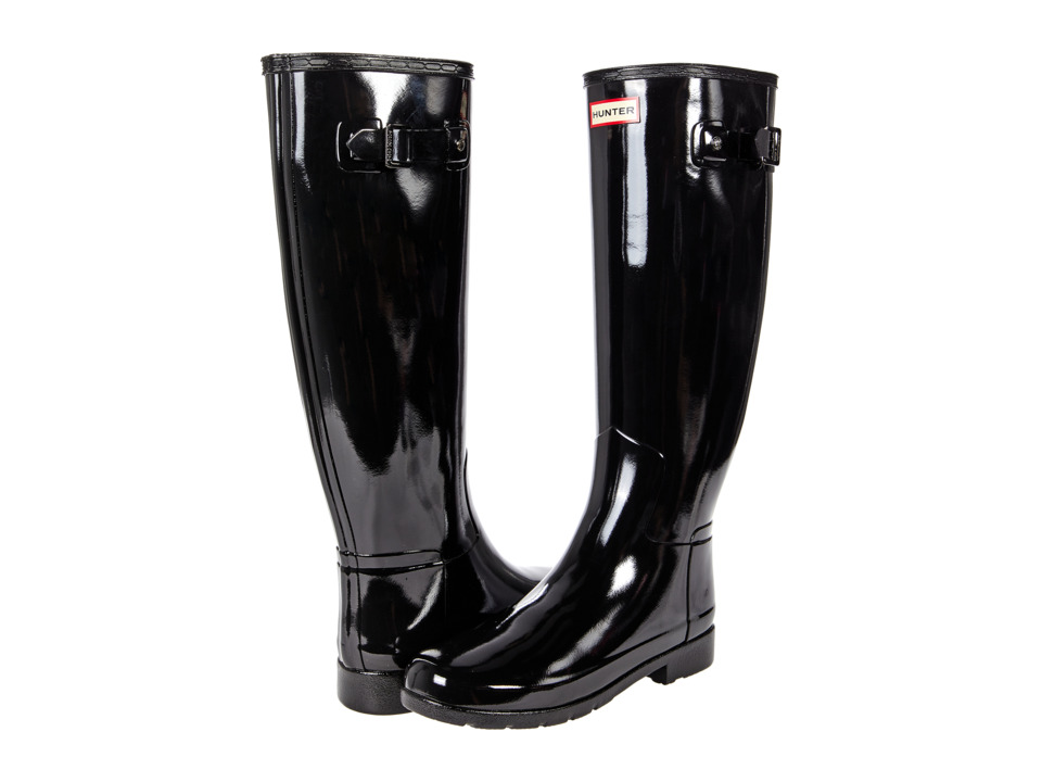 Hunter Original Refined Gloss Rain Boots (Black) Women