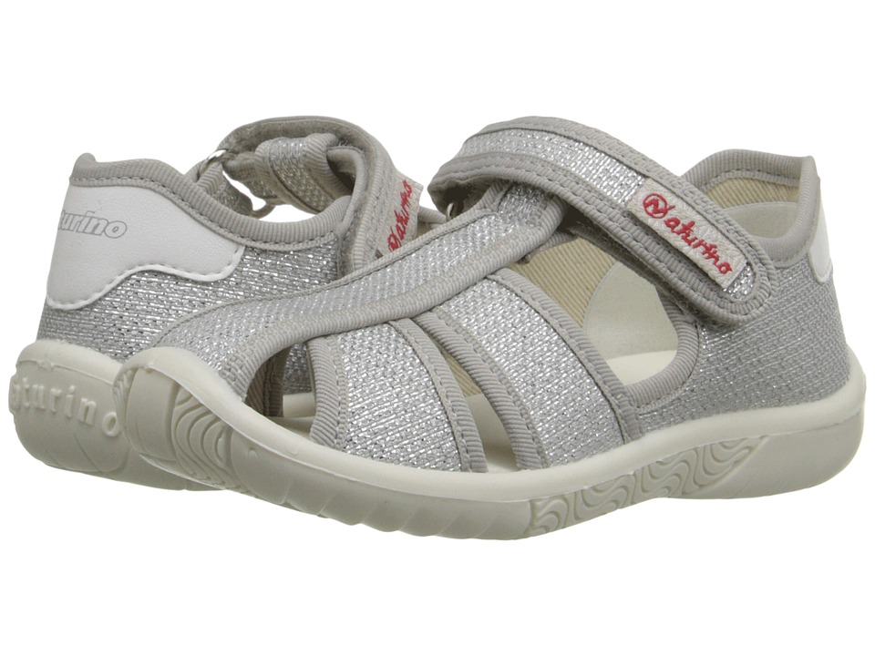 Naturino Nat. 7785 SS16 Toddler/Little Kid Silver Girls Shoes