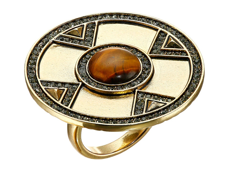 House of Harlow 1960 - Dorelia Coin Cocktail Ring (Gold) Ring