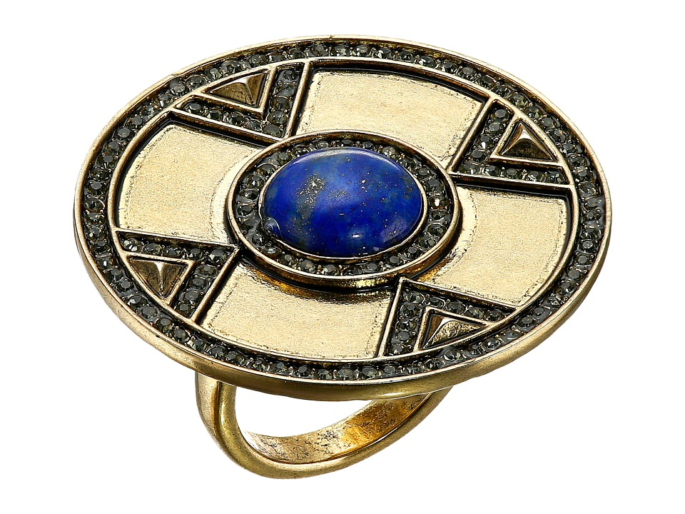 House of Harlow 1960 - Dorelia Coin Cocktail Ring (Blue) Ring