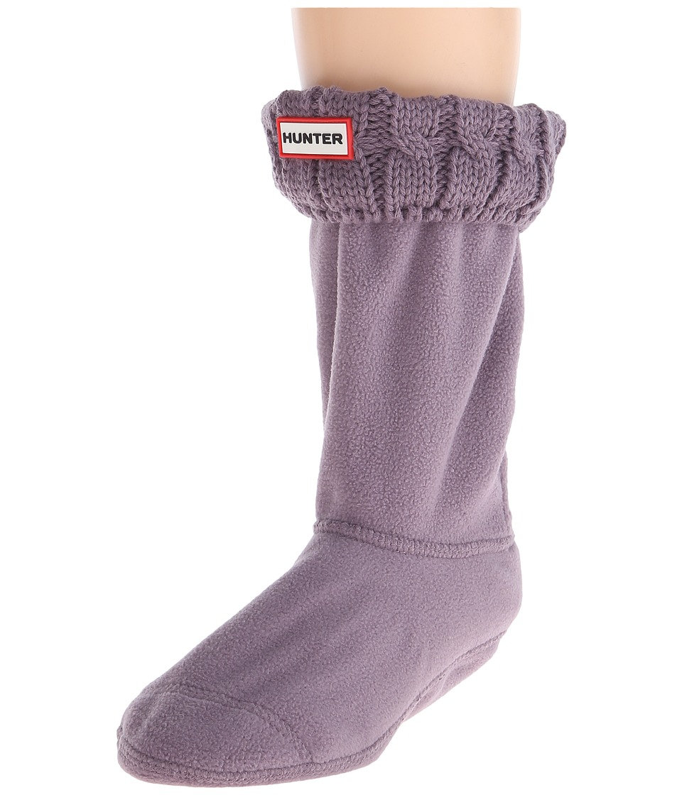 Hunter 6 Stitch Cable Boot Sock Short Thundercloud Womens Crew Cut Socks Shoes