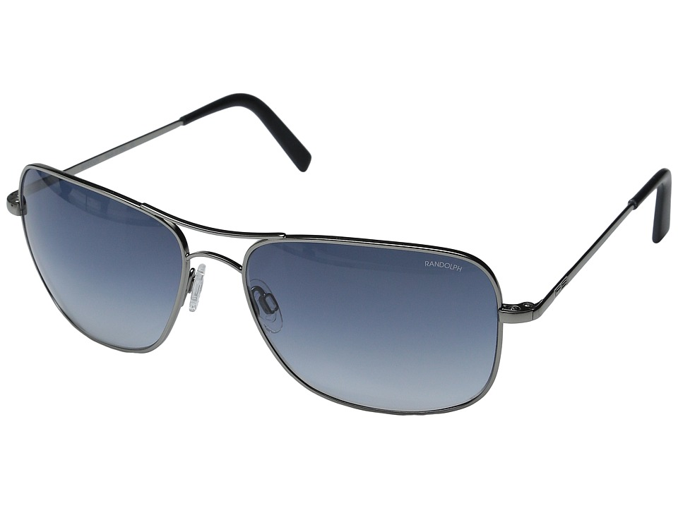 Randolph - Archer 63mm (Dark Ruthenium Polished/Blue Gradient Nylon) Fashion Sunglasses