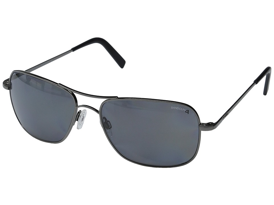 Randolph Archer 59mm Polarized Dark Ruthenium Polished/Gray Polarized Fashion Sunglasses