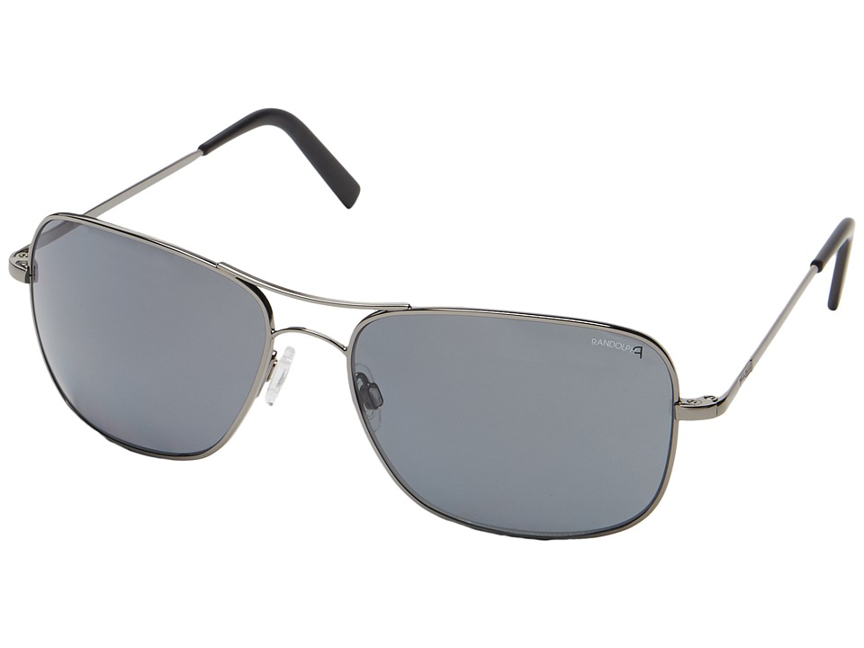 Randolph Archer 63mm Polarized Dark Ruthenium Polished/Gray Polarized Polarized Fashion Sunglasses