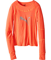 Puma Kids - Long Sleeve Raglan Top (Big Kids)