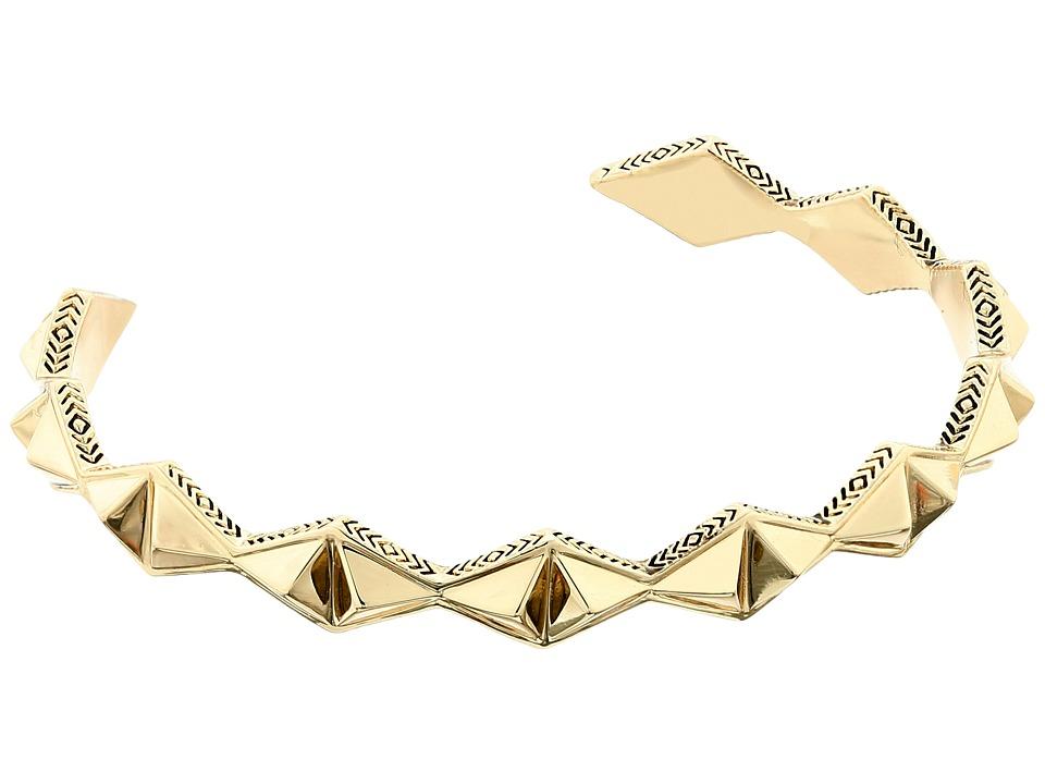 House of Harlow 1960 Sierra Pyramid Cuff Bracelet Gold Bracelet