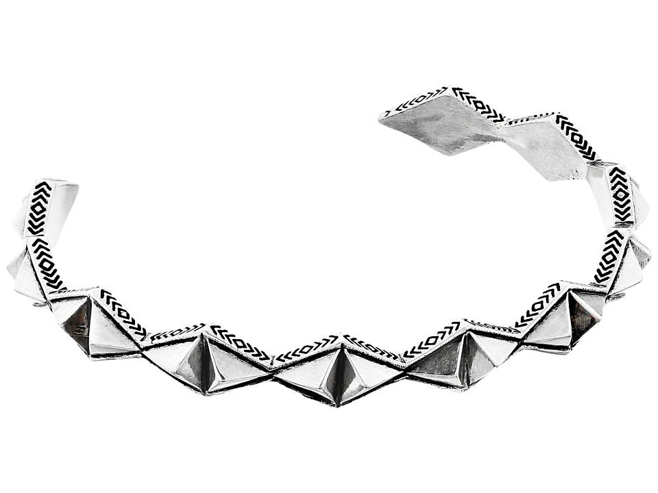 House of Harlow 1960 Sierra Pyramid Cuff Bracelet Silver Bracelet