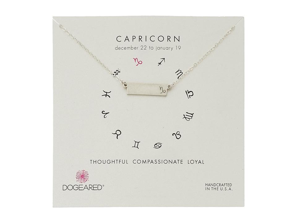 Dogeared Capricorn Zodiac Bar Necklace Sterling Silver Necklace
