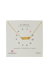 Dogeared - Scorpio Zodiac Bar Necklace