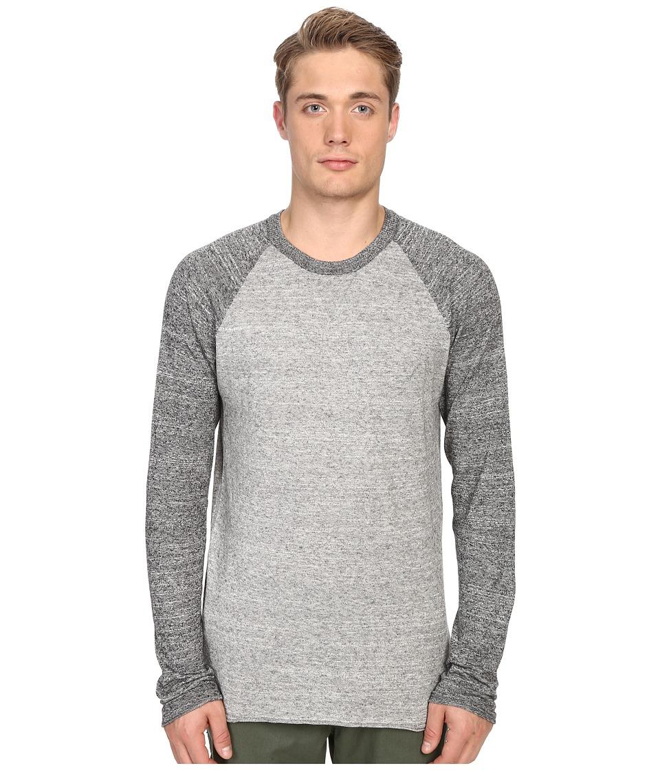 Billy Reid Jersey Roll Crew Grey Mens Sweater