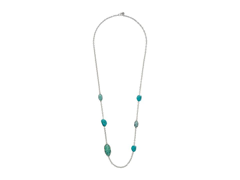 The Sak Stone Station Necklace 34 Turquoise Necklace