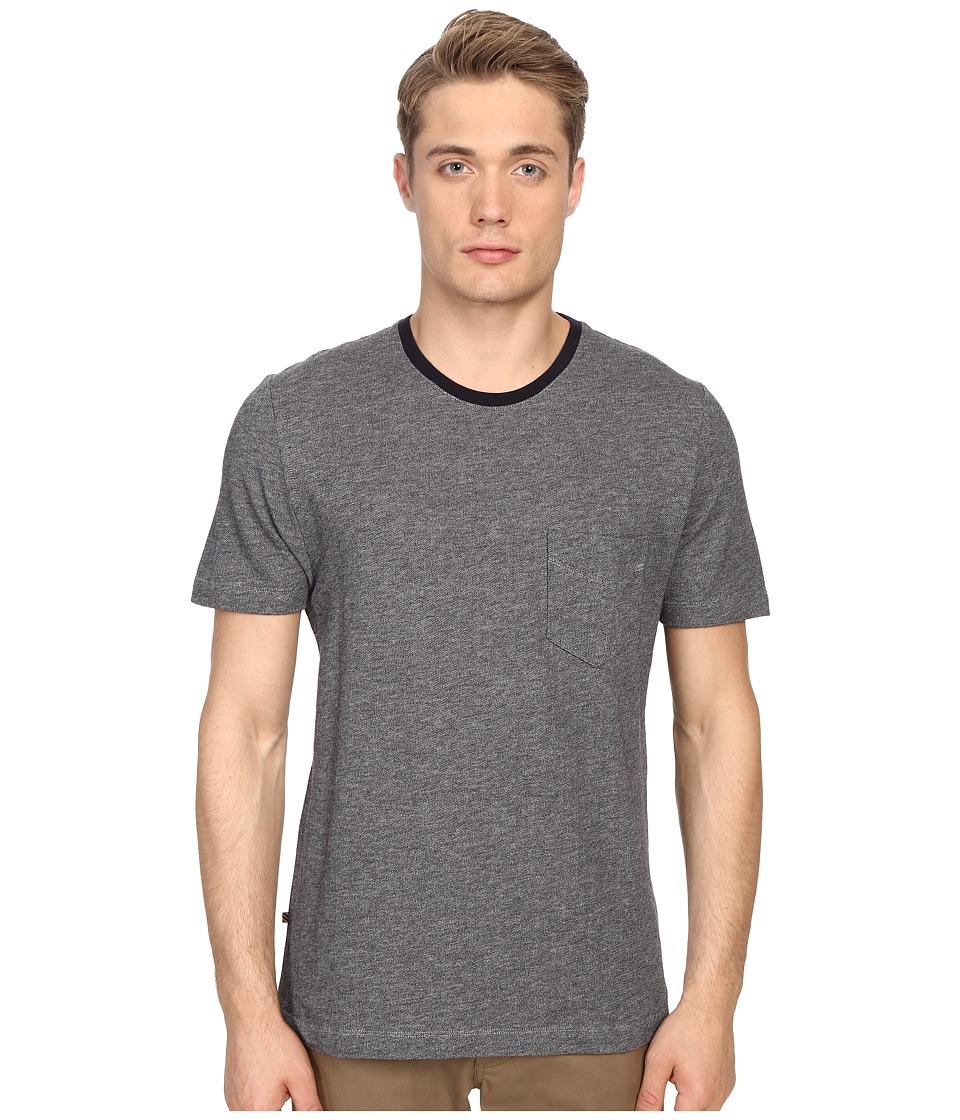 Billy Reid George T Shirt Jacquard Navy/Light Grey Mens T Shirt