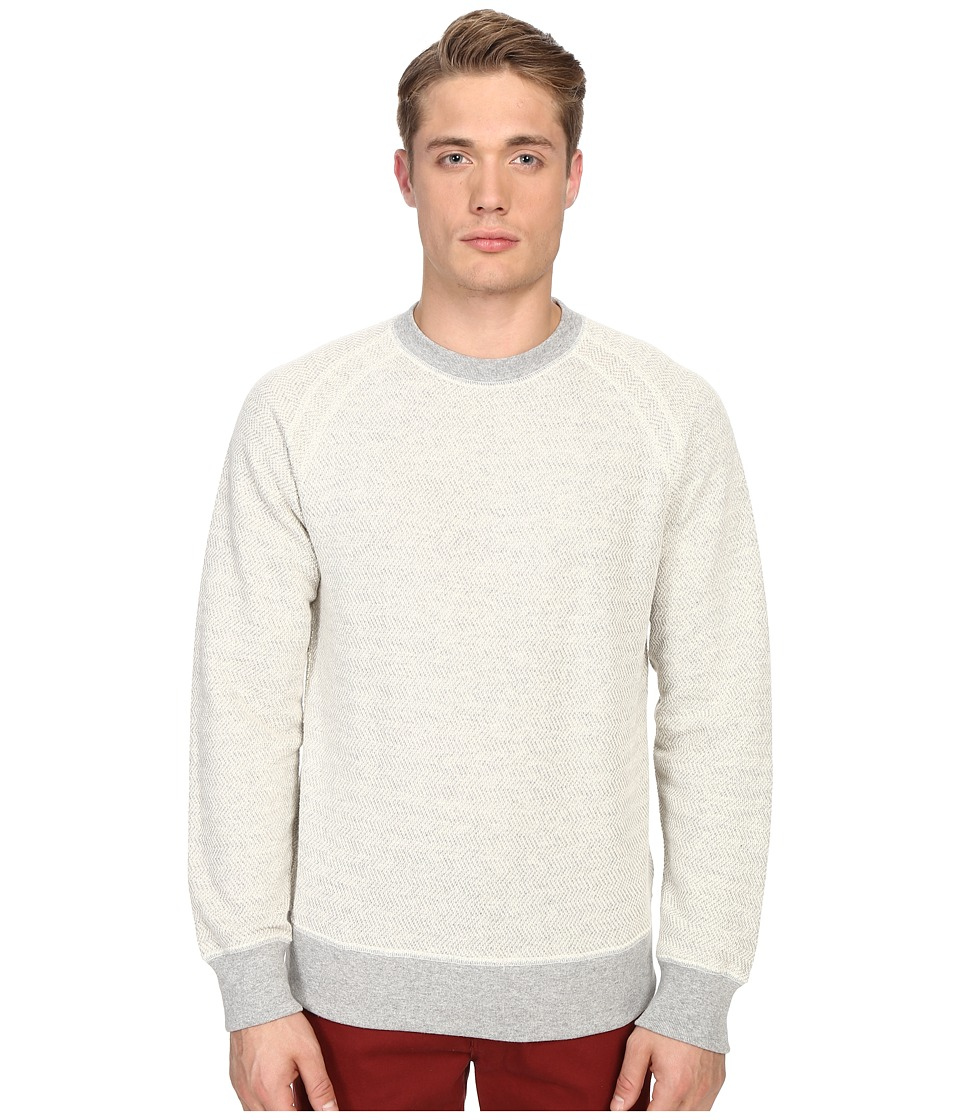 Billy Reid Aaron Long Sleeve Crew Light Grey Mens Sweatshirt
