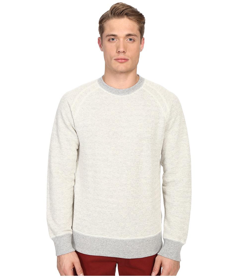 Billy Reid Aaron Long Sleeve Crew Light Grey Mens Sweatshirt