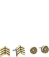 The Sak - Chevron Round Stud Earrings Set