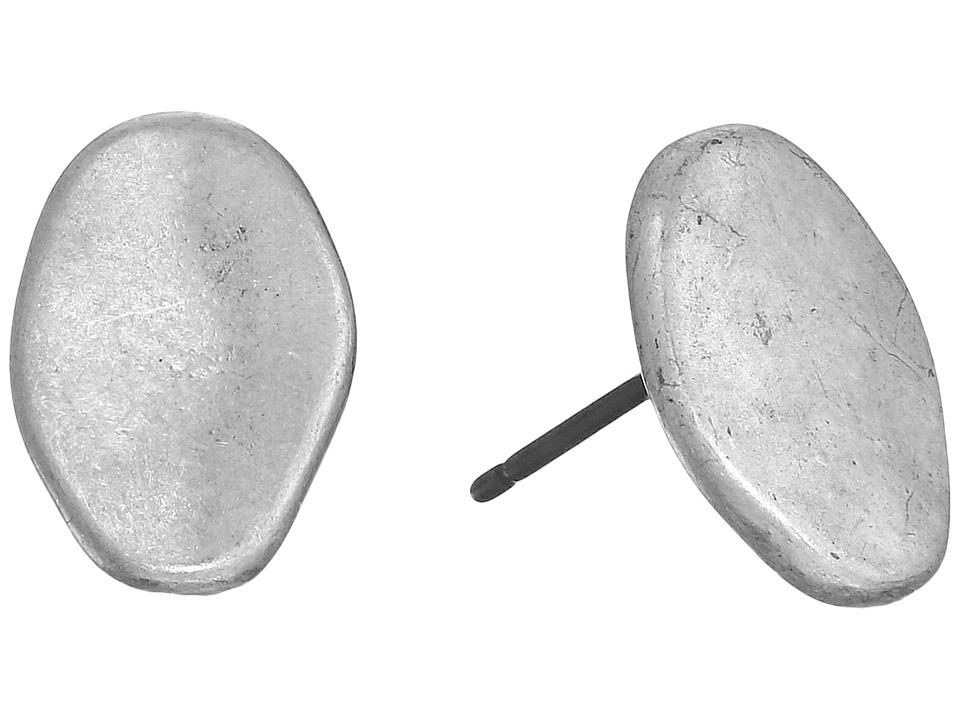 The Sak Metal Pebble Stud Earrings Silver Earring