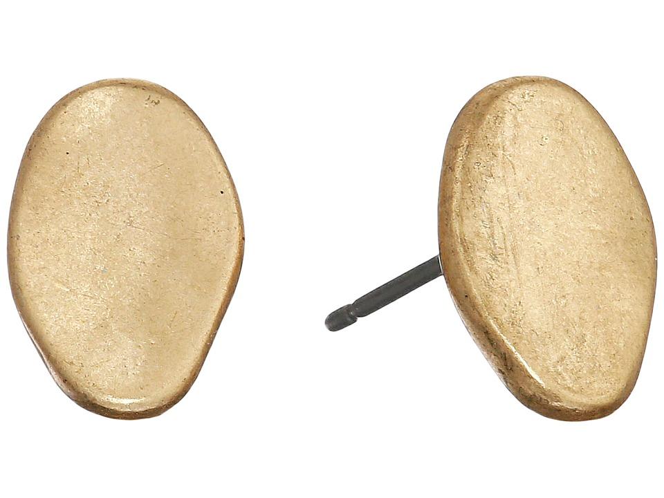 The Sak Metal Pebble Stud Earrings Gold Earring