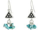 Triangle Nugget Drop Earrings