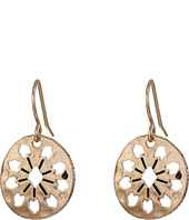 The Sak - Pierced Disc Drop Earrings
