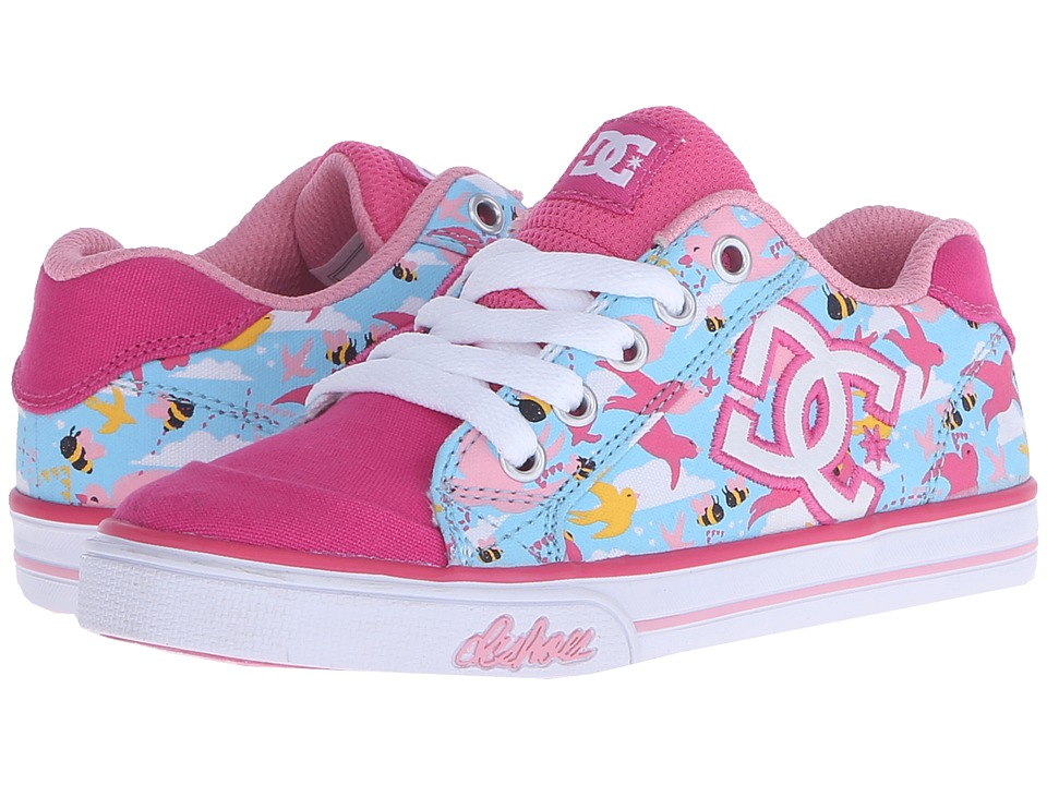 DC Kids Chelsea Graffik Little Kid Crazy Pink/Blue Girls Shoes