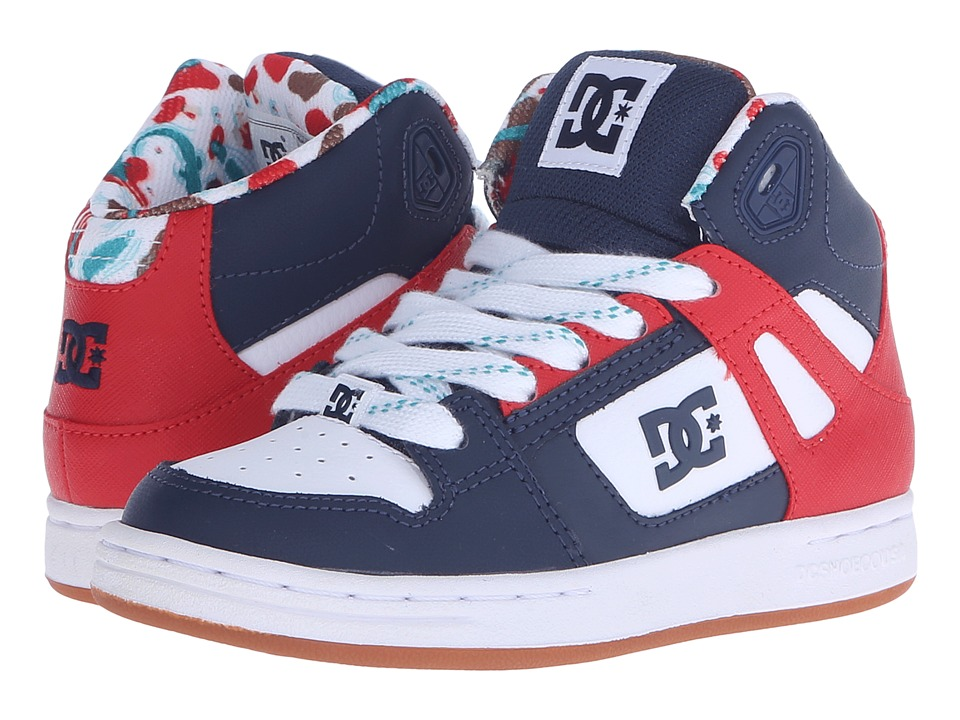 DC Kids Rebound SE Little Kid Black/Red Print Boys Shoes