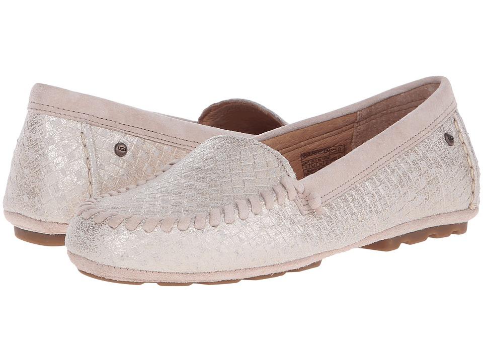 UGG Dari Metallic Basket Soft Gold Womens Slip on Shoes