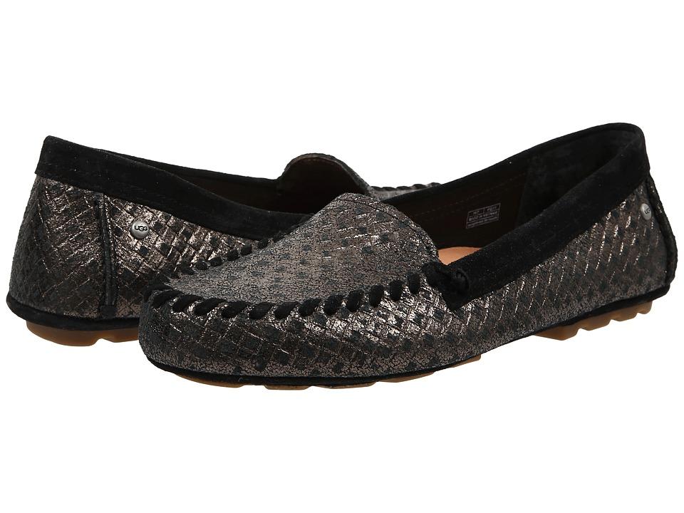 UGG Dari Metallic Basket Black Womens Slip on Shoes