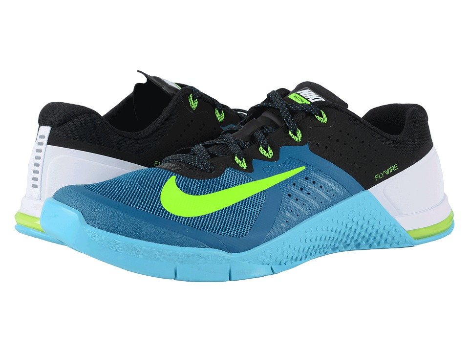 Nike Metcon 2 Green Abyss/Gamma Blue/Black/Electric Green Mens Cross Training Shoes