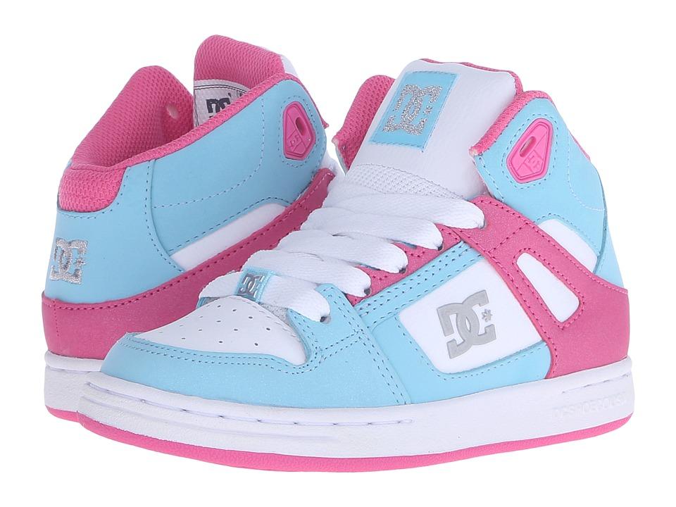 DC Kids Rebound Little Kid Cyan/Magenta Girls Shoes