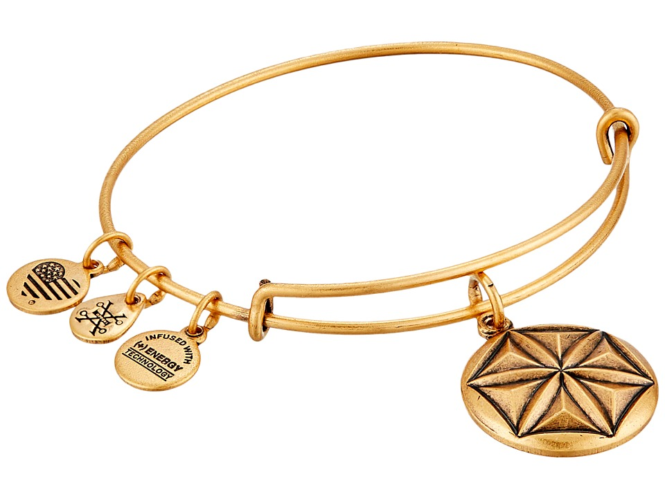 Alex and Ani Aphrodites Flower Charm Bangle Rafaelian Gold Bracelet