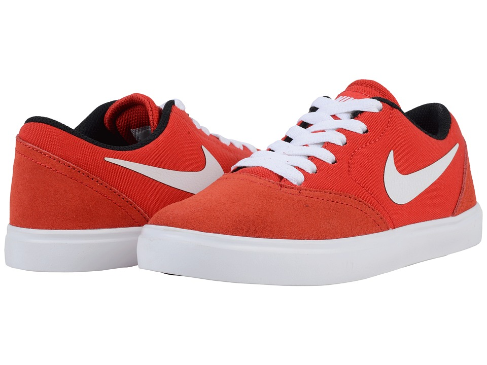 Nike SB Kids SB Check Big Kid University Red/White/Black Boys Shoes