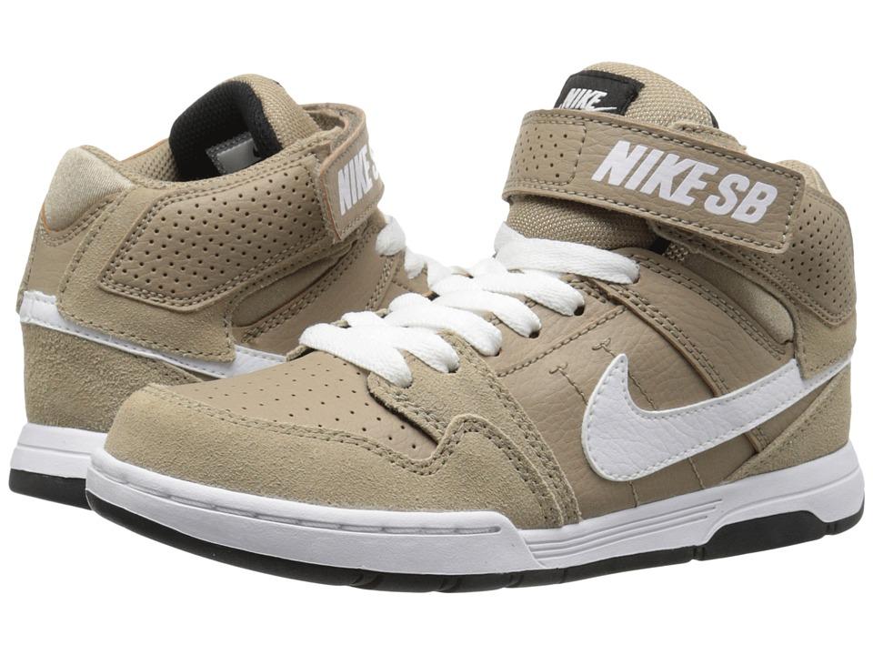 Nike SB Kids Mogan Mid 2 Jr Little Kid/Big Kid Khaki/White/Black/Pine Green Boys Shoes