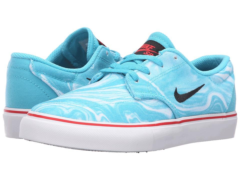 Nike SB Kids - SB Clutch PRM (Big Kid) (Gamma Blue/Black/White/University Red) Boys Shoes