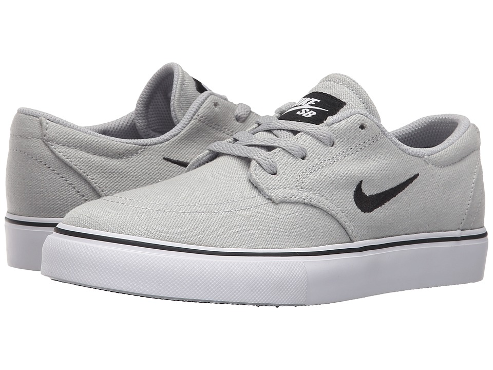 Nike SB Kids SB Clutch Big Kid Wolf Grey/Black/White Boys Shoes
