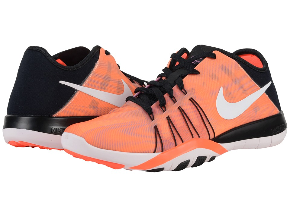 Nike - Free TR 6 PRT (Black/Total Crimson/Pearl Pink/White) Womens Cross Training Shoes