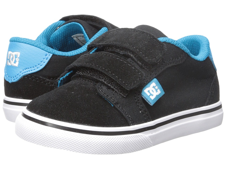 DC Kids Anvil V Toddler Black/Turquoise Boys Shoes