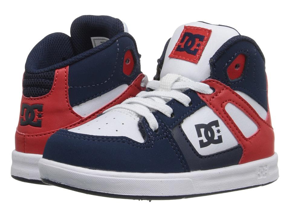 DC Kids Rebound UL Toddler Navy/White Boys Shoes