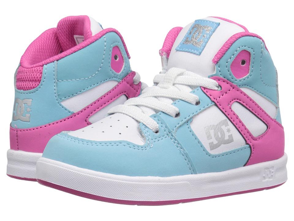 DC Kids Rebound UL Toddler Cyan/Magenta Girls Shoes