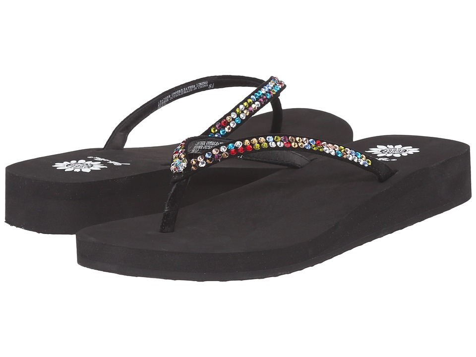 Yellow Box Jello Black Multi Womens Sandals